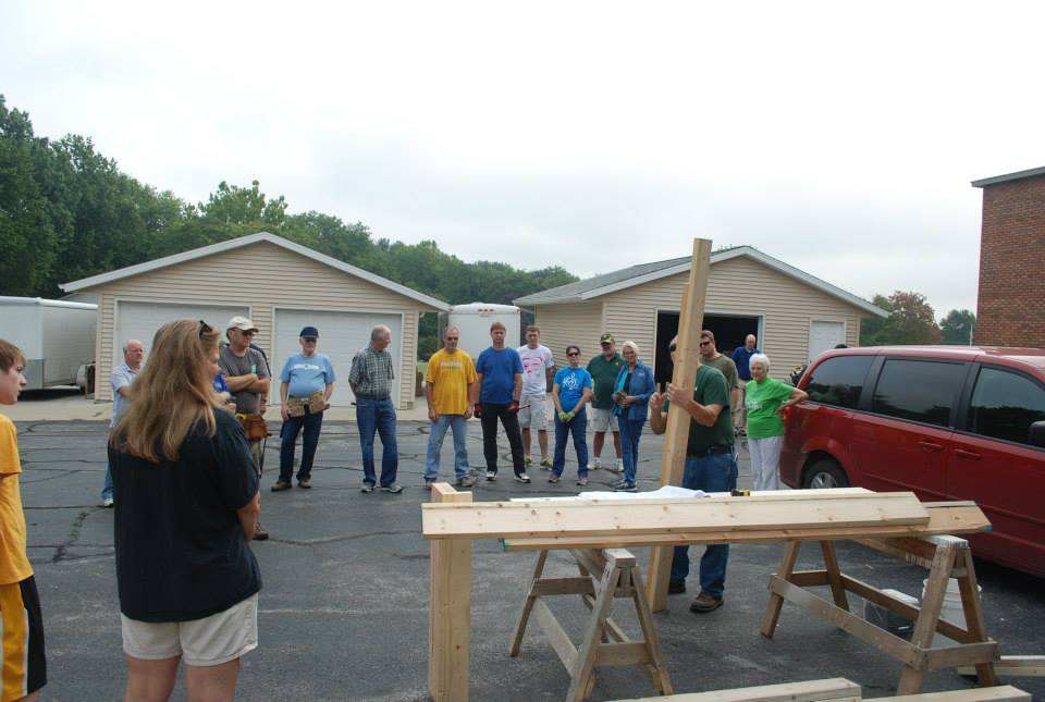 Faith in Action Sunday- Habitat Wall Build